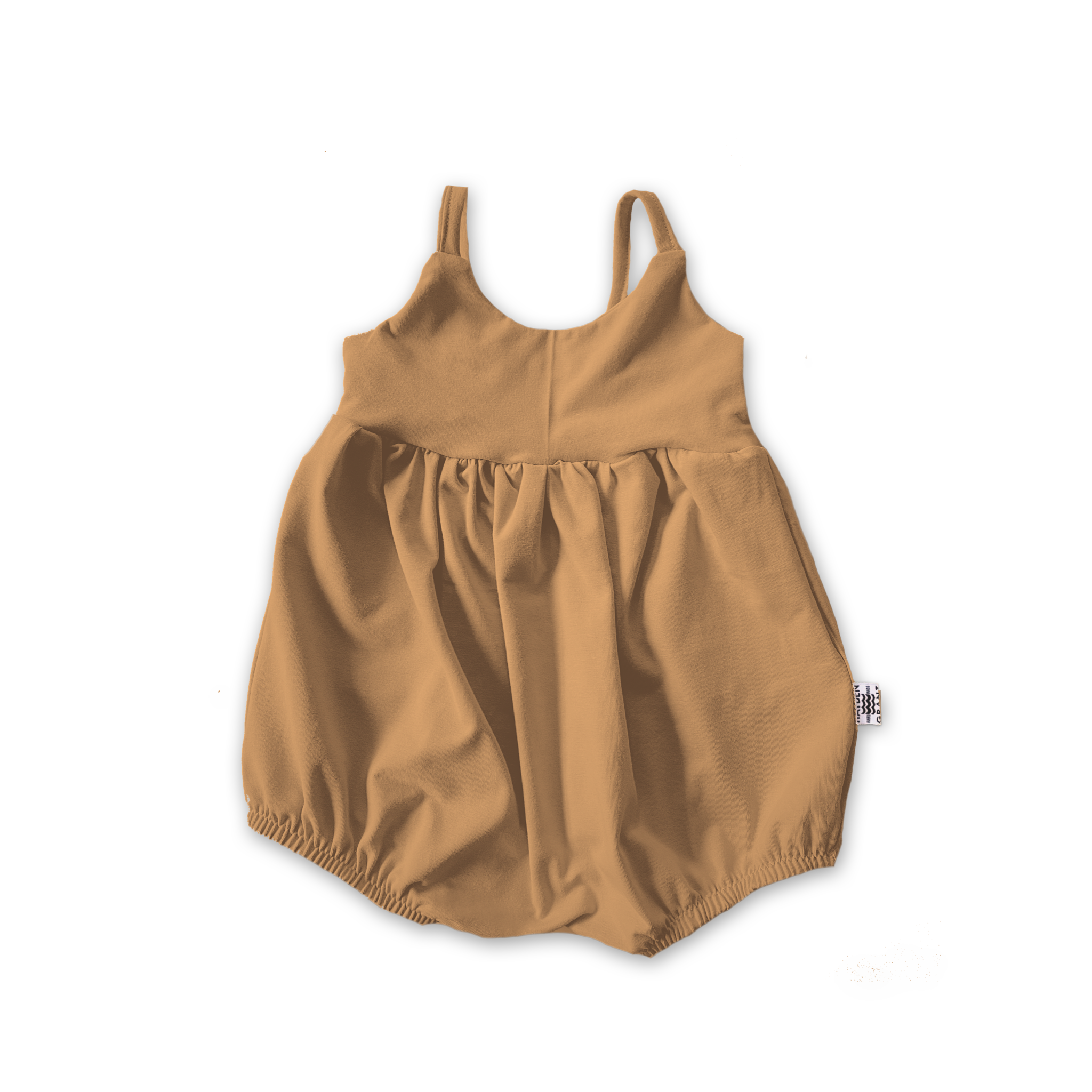 Bellevue Bubble Romper in Toasted Wheat (choice of sleeve length)