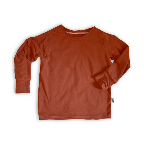 Crew Neck Pullover in Persimmon