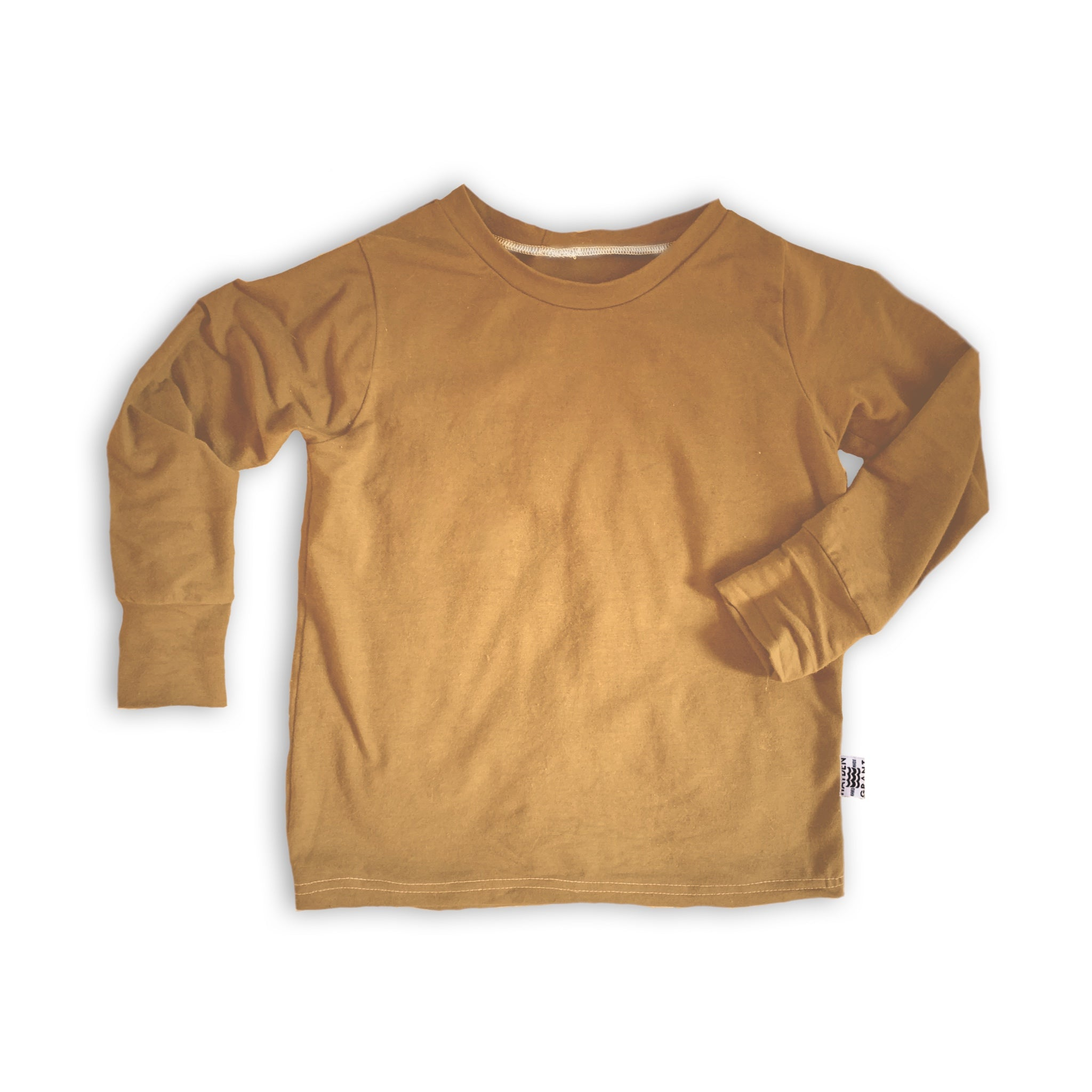 Crew Neck Pullover in Toasted Wheat