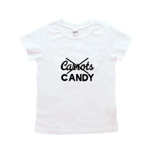 Load image into Gallery viewer, Candy, No Carrots-Baby Shirt- Black or White Graphic Tee