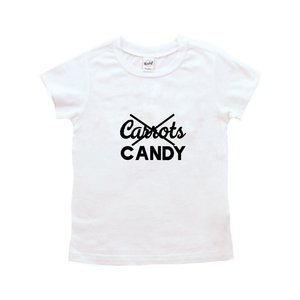 Candy, No Carrots-Baby Shirt- Black or White Graphic Tee