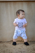 Load image into Gallery viewer, Milk + Cookies (Ice Blue) Harem Shorts or Bummies for Baby Toddler & Kids