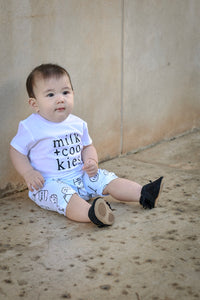 Milk + Cookies-Baby Shirt- Black or White Graphic Tee