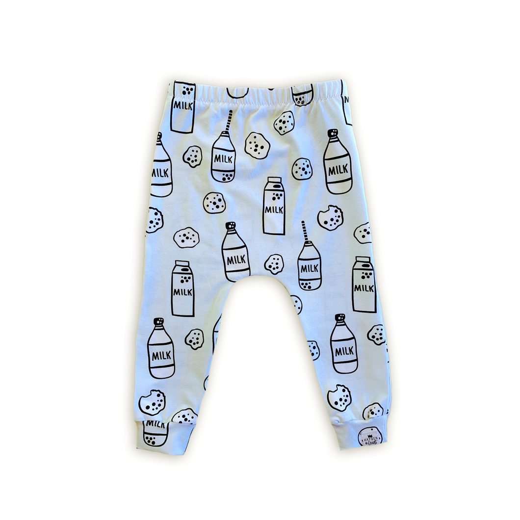 Milk + Cookies (Ice Blue) Harem Pants - Joggers - Leggings for Baby Toddler and Kids