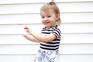 Milk + Cookies Peplum Top for Baby Toddler and Kids