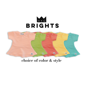 Bright Peplum Top-Key Lime, Lemon, Watermelon, Blue or Cantaloupe