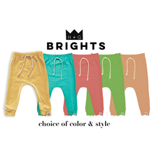 Load image into Gallery viewer, Bright Drawstring Harem Pants or Leggings-Kay Lime, Lemon, Watermelon, Cantaloupe or Blue