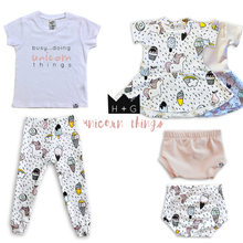 Load image into Gallery viewer, Unicorn Bummies or Harem Shorts for Baby Toddler & Kids