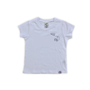 Fly Paper Plane Tee-Baby Shirt- Black or White Graphic Tee