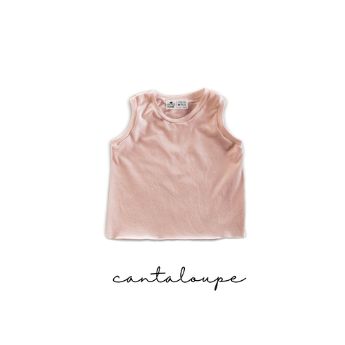Cantaloupe Crop Top- Cropped Handmade Tank