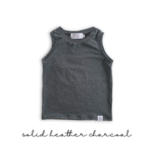 Load image into Gallery viewer, Solid Handmade Tank Top- Black, Gray, Denim Blue, Charcoal, Cement