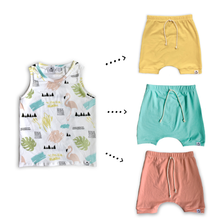 Load image into Gallery viewer, Handmade Tank [Malibu] + Harem Shorts or Bummies Gift Set