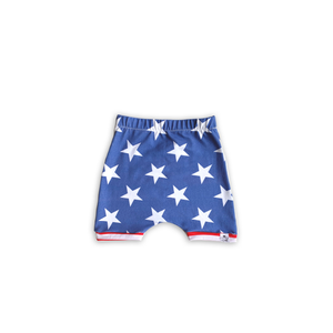 Stars + Stripes Harem Shorts or Bummies for Baby Toddler and Kids (Star Base)