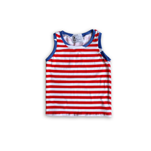 Load image into Gallery viewer, Stripes + Stars Handmade Tank Top [Stripe Base]