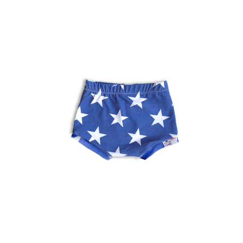 Solid Stars (Sunkissed Blue) Bummies or Harem Shorts for Baby Toddler and Kids