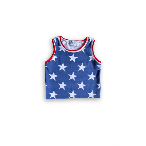Stars + Stripes Crop Top-Cropped Handmade Tank [Star Base]