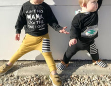 Load image into Gallery viewer, Black Sidecar Pocket Harem Pants - Joggers - Leggings for Baby Toddler and Kids