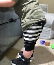 Load image into Gallery viewer, Black Sidecar Pocket Harem Shorts for Baby Toddler and Kids