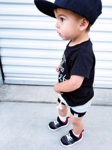 Gray & Black Bummies or Harem Shorts for Baby Toddler and Kids