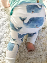 Load image into Gallery viewer, Whale Baby Leggings - Harem Pants - Joggers - Leggings for Baby Toddler and Kids