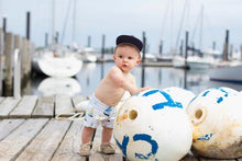 Load image into Gallery viewer, Sailboat Euro Swim Shorts- Baby Toddler Kids
