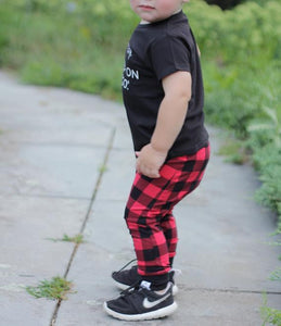 Buffalo Plaid Harem Pants - Joggers - Leggings for Baby Toddler and Kids