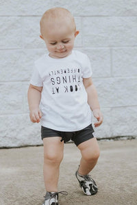 Carbon Gray Bummies or Harem Shorts for Baby Toddler and Kids