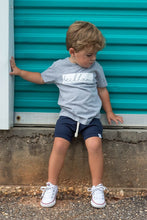 Load image into Gallery viewer, Navy Bummies or Harem Shorts for Baby Toddler and Kids