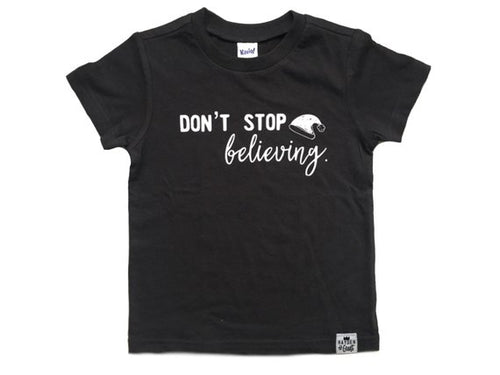 Don't Stop Believing Graphic Tee - Baby Toddler Kids