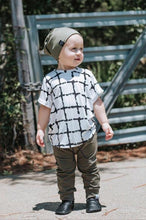 Load image into Gallery viewer, Olive Green Drawstring Harem Pants - Joggers - Leggings for Baby Toddler and Kids