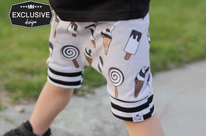 Ice Cream Harem Shorts or Bummies for Baby Toddler and Kids