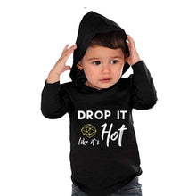 Load image into Gallery viewer, Drop it Like its Hot Graphic Tee Hoodie - Baby Toddler Kids