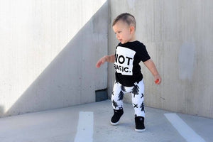 Woodland Monochrome Trees Harem Pants - Joggers - Leggings for Baby Toddler and Kids
