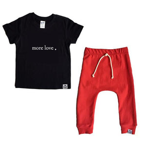 Valentines Outfit - More Love Set- Tee and Red Harem Pants