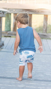 Whale Harem Shorts or Bummies for Baby Toddler and Kids