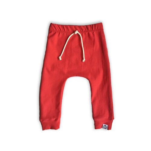 Red Drawstring Harem Pants - Joggers - Leggings for Baby Toddler and Kids