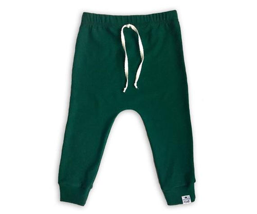 Pine Green Drawstring Harem Pants - Joggers - Leggings for Baby Toddler and Kids