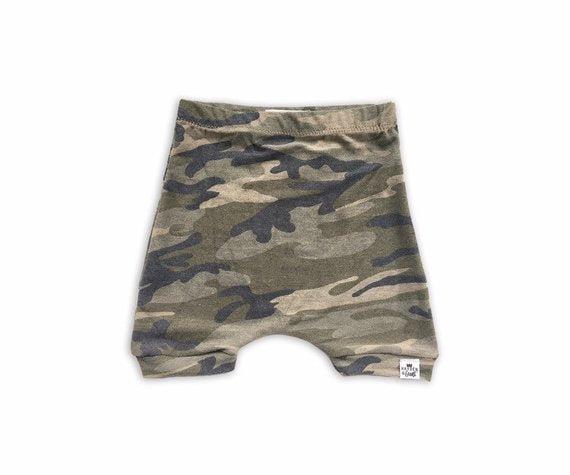 Camo Harem Shorts or Bummies for Baby Toddler and Kids