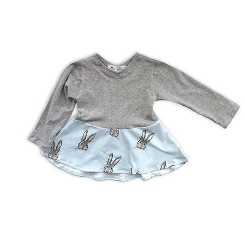 Bunny Peplum Top for Baby Toddler and Kids