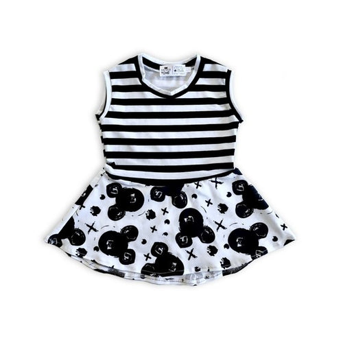 Mouse Graffiti (Mickey) Peplum Top - Hi-Lo Peplum for Baby Toddler & Kids