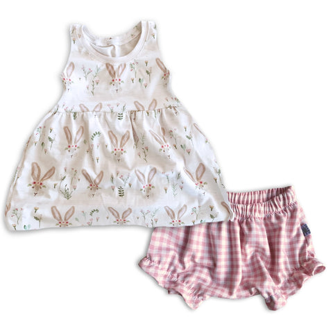 Limited Edition Set- Peplum Tank + Ruffle Shorts