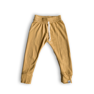 Essential French Terry Drawstring Joggers in Butternut