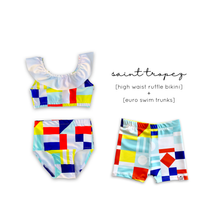 Load image into Gallery viewer, Saint Tropez (Nautical Flag) Euro Swim Shorts- Baby Toddler Kids