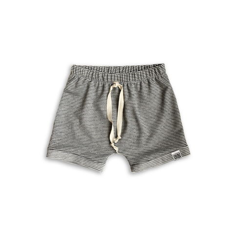 Boy's Crew Shorts in Charcoal Stripe