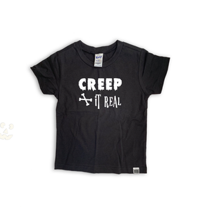 """Creep it Real"" Black Graphic Tee"