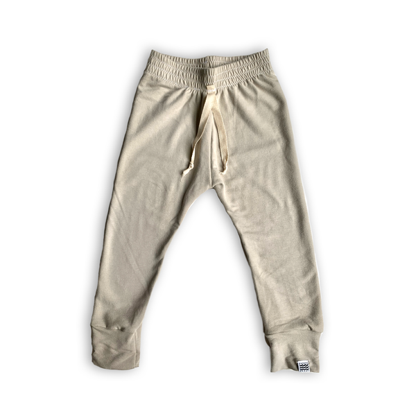 Essential French Terry Drawstring Joggers in Champagne