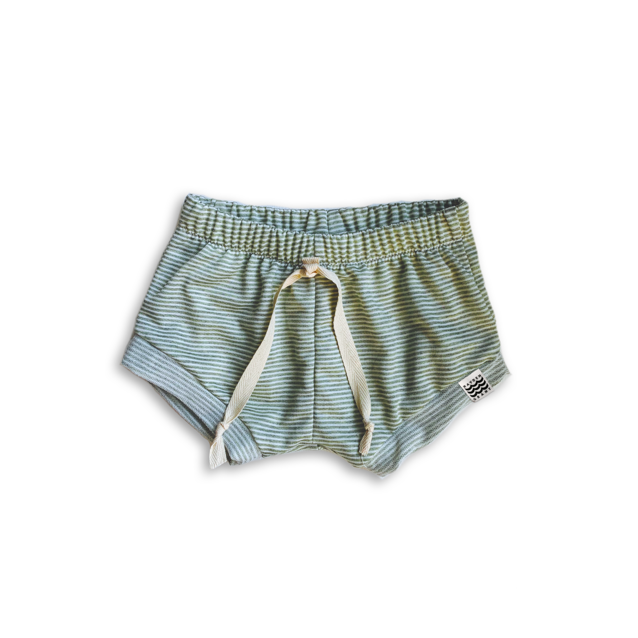 Classic Bummies in Green Tea Stripe