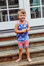 Load image into Gallery viewer, Stars + Stripes Handmade Tank Top [Star Base]