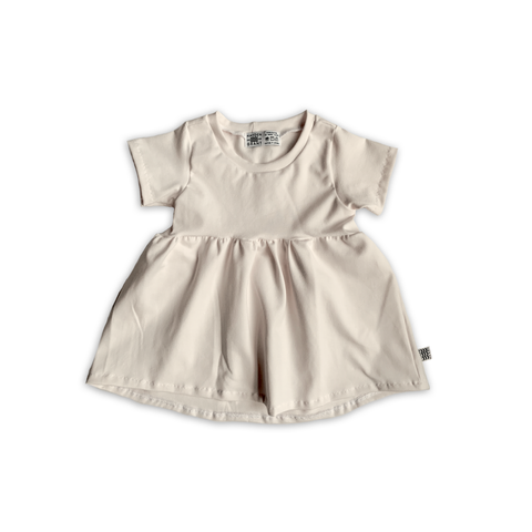 Peplum Tee in Solid Oat
