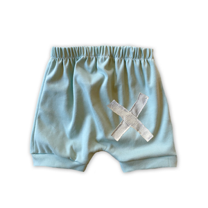 X Patchwork Crew Shorts in Sea Grass